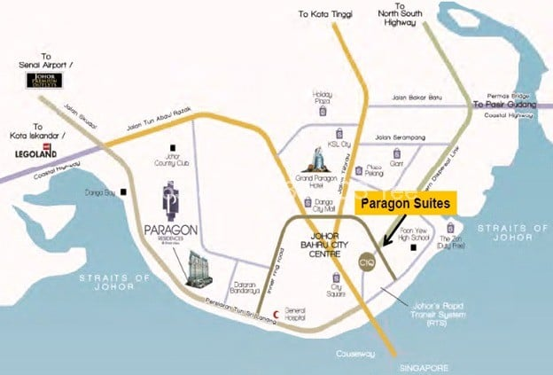 paragon-suites-location-map
