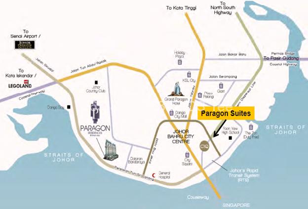paragon-suites-location-map