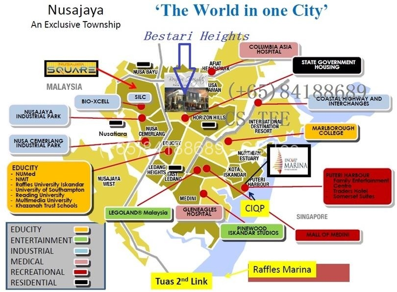 bestari heights nusajaya location map