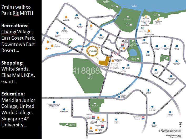 Dnest-Pasir-Ris-location-map