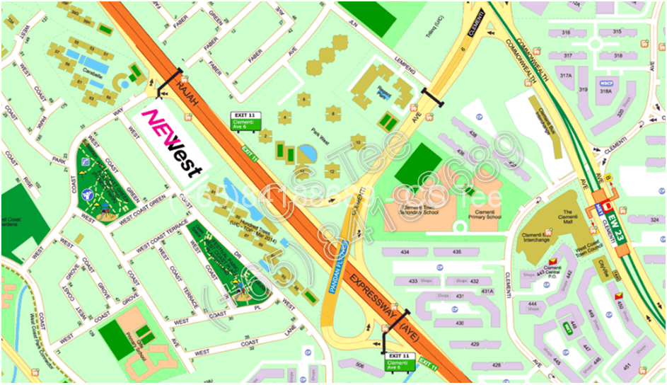 NeWest-Clementi-location-map
