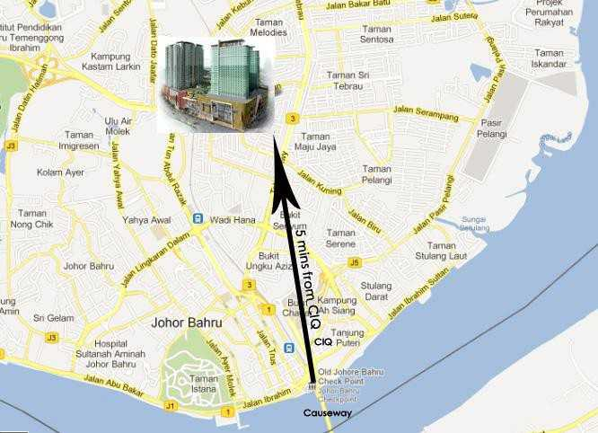 Desplanade-Residence-location-map1