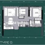 2-bedrooms (1052sqft- typeB, 952sqft -typeG )