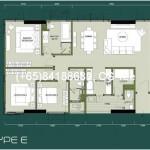 3-bedrooms (1249(C)/1359(C1)/1462(E)/1556(F)/1660(F1) Sqft)