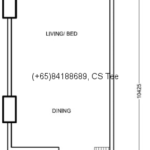 Type A: Studio, 446 sqft