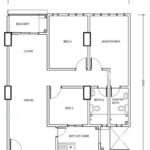 Type C: 3-bedrooms, 987 sqft