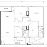 Type D: 4-bedrooms, 1239 sqft