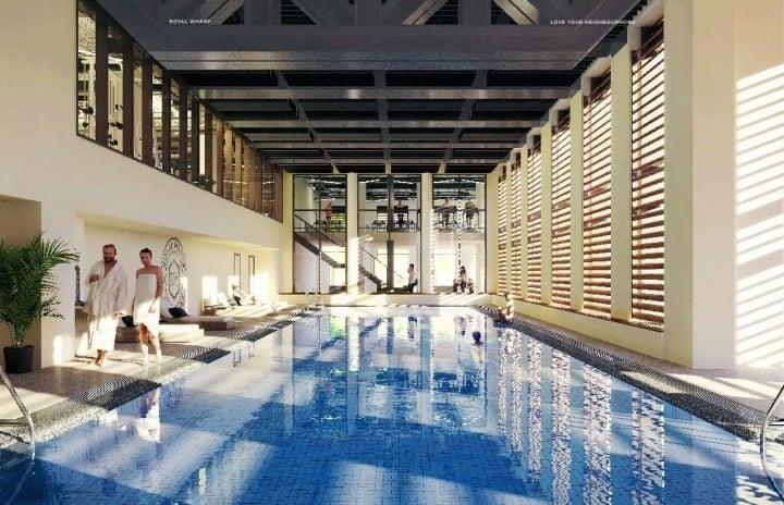 Royal Wharf 2018 Club House - Swimming Pool