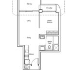 Type A1: 1 bedroom floor plan