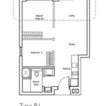 Type B1: 2 bedroom floor plan