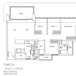 Type D1: 4 bedroom floor plan