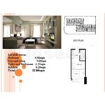 100-west-makati-floor-plan-1bed-area-breakdown
