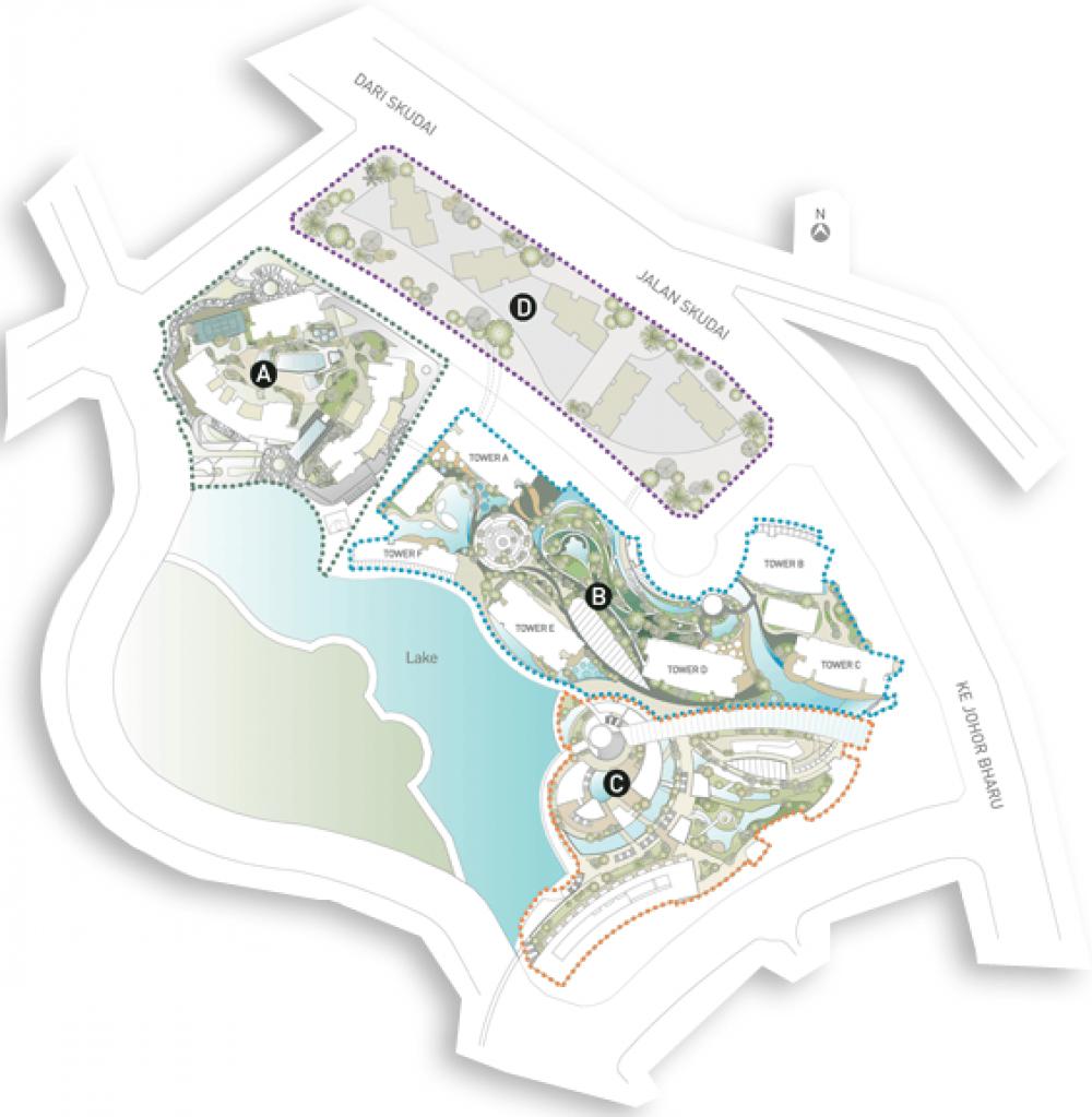 Bora-Residences-Danga-Bay-Site-Plan