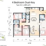 Botanika-Tower-B-Floor-Plan-Type-A3-4bedroom-Dual-Key