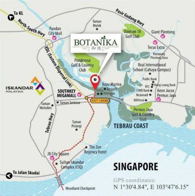 botanika-johor-location-map