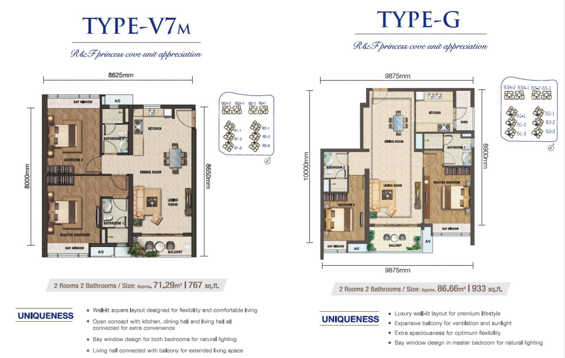 RF Princess Cove JB Floor Plan 2Bedroom