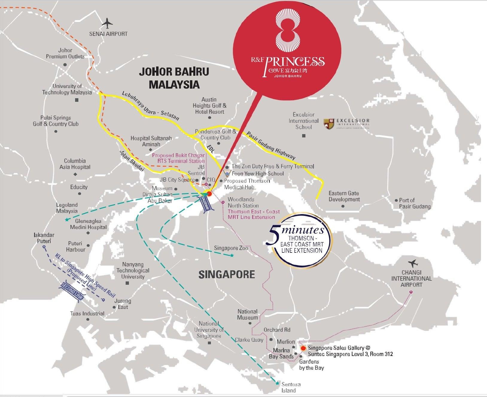 RF Princess Cove JB location map