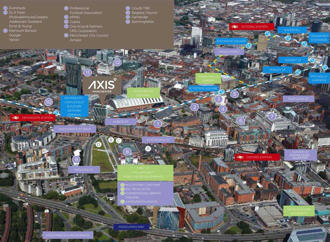 AxisTower-Manchester-location-map