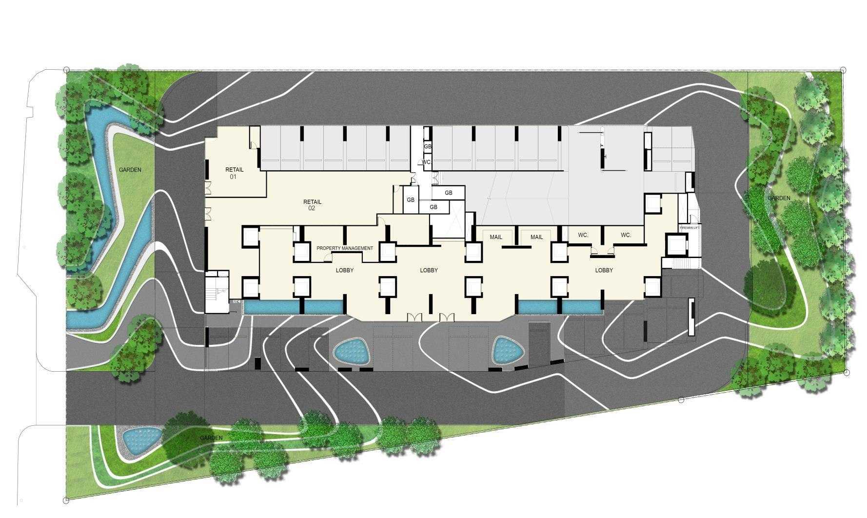 Ideo-Q-Siam-site-plan