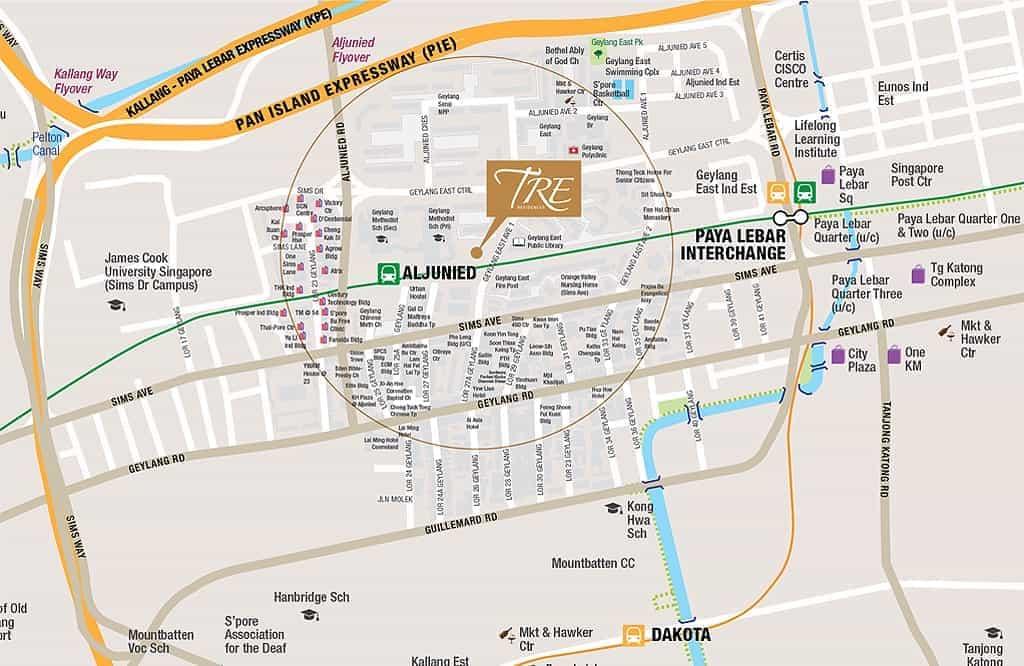 TRE-Residences-Aljunied-Location-Map