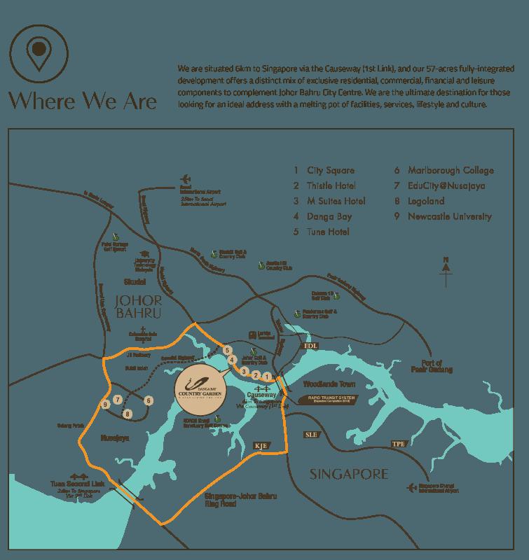 country garden danga bay laurel location map