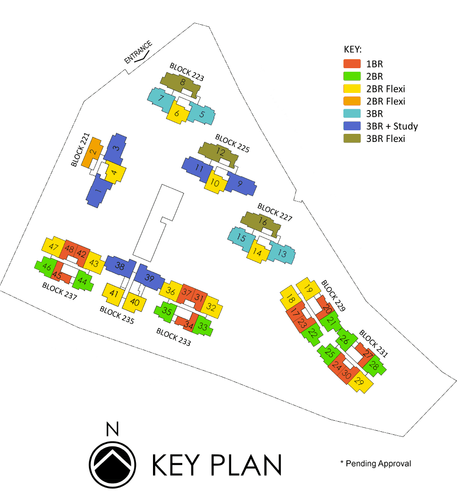 Botanique-At-Bartley-Key-Plan