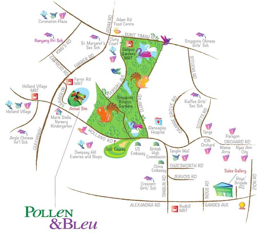 pollen-bleu-farrer-road-surrounding-map