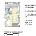 focus-ploenchit-bangkok-floorplan-1BR-B1-a