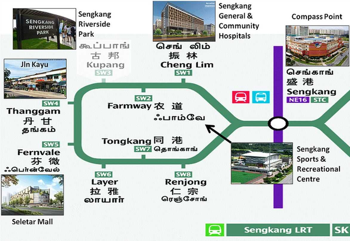 high-park-fernvale-LRT-map