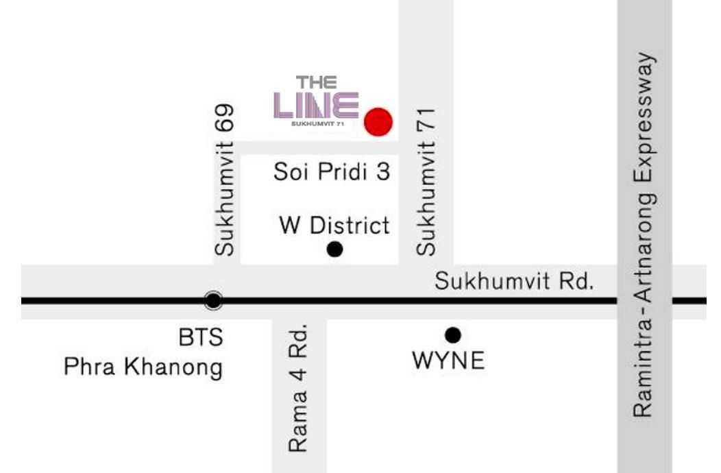 the-line-sukhumvit-71-sansiri-location-map