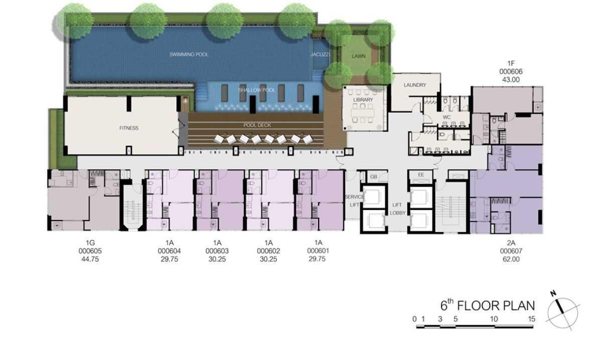 the-line-sukhumvit-71-sansiri-site-plan-facilities-deck