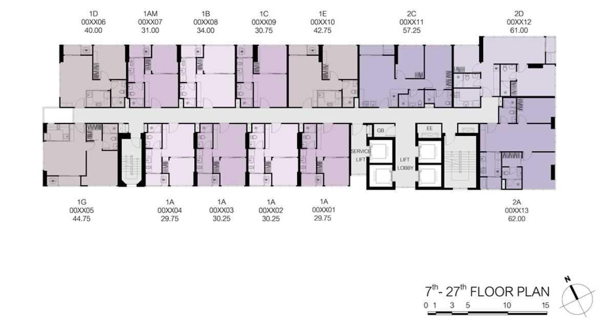 the-line-sukhumvit-71-sansiri-site-plan-floor-7-27