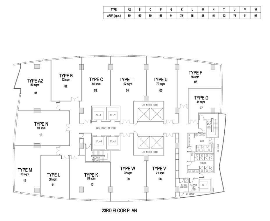the-gateway-cambodia-office-site-plan-23rd-floor