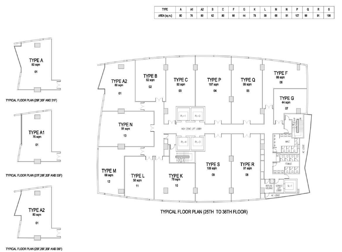 the-gateway-cambodia-office-site-plan-25to36-floor