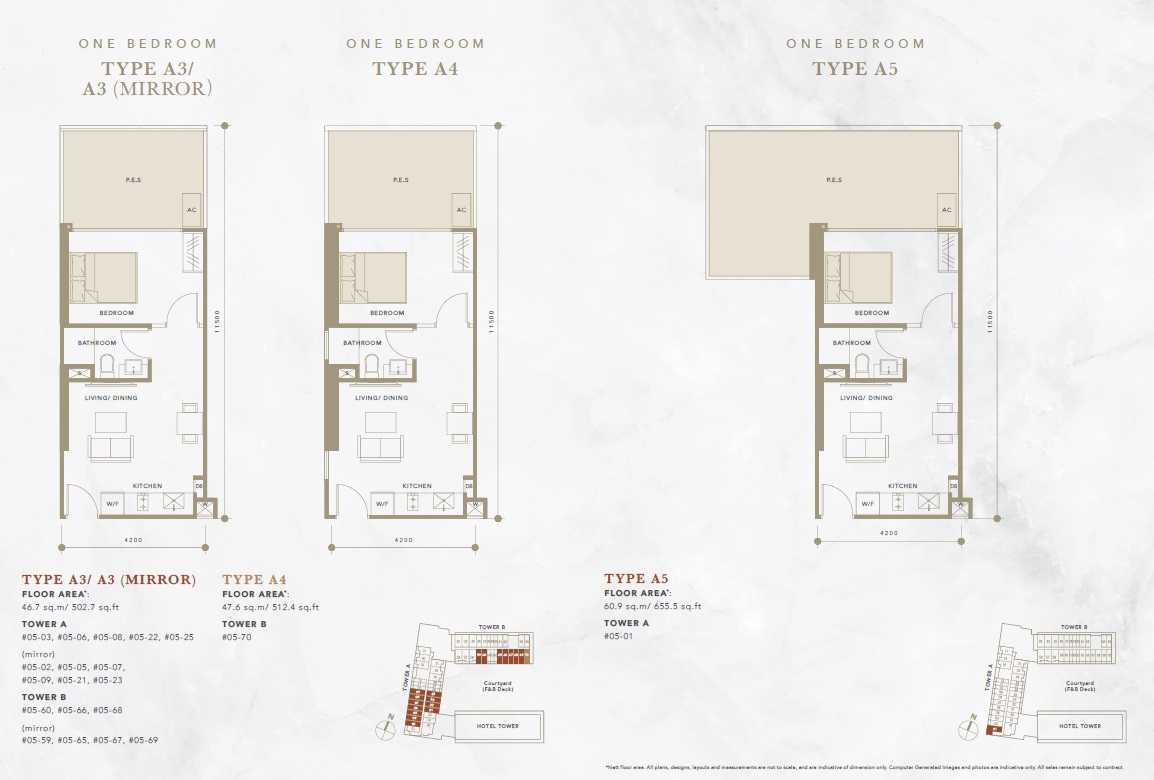 Oxley-Convention-City-Batam-Residential-Floor Plan-1Bedroom