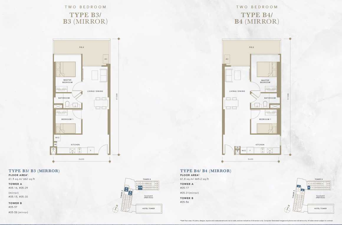 Oxley-Convention-City-Batam-Residential-Floor Plan-2Bedroom-2