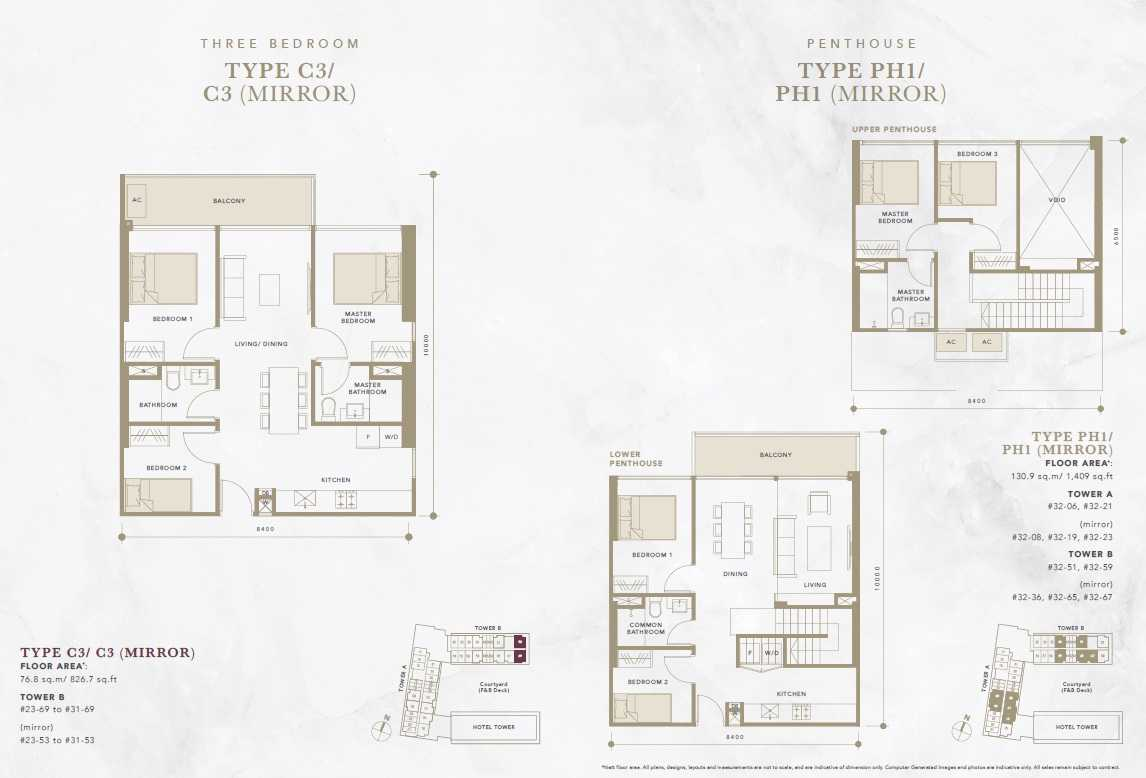 Oxley-Convention-City-Batam-Residential-Floor Plan-Penthouse
