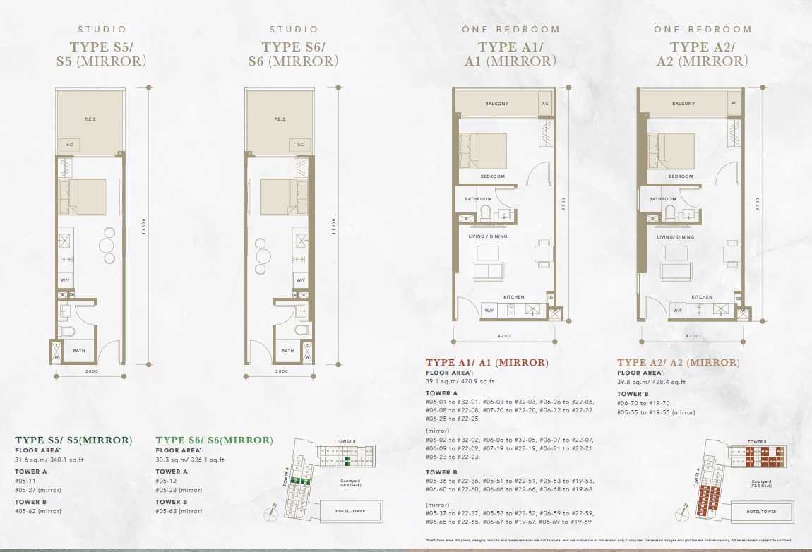 Oxley-Convention-City-Batam-Residential-Floor Plan-Studio2