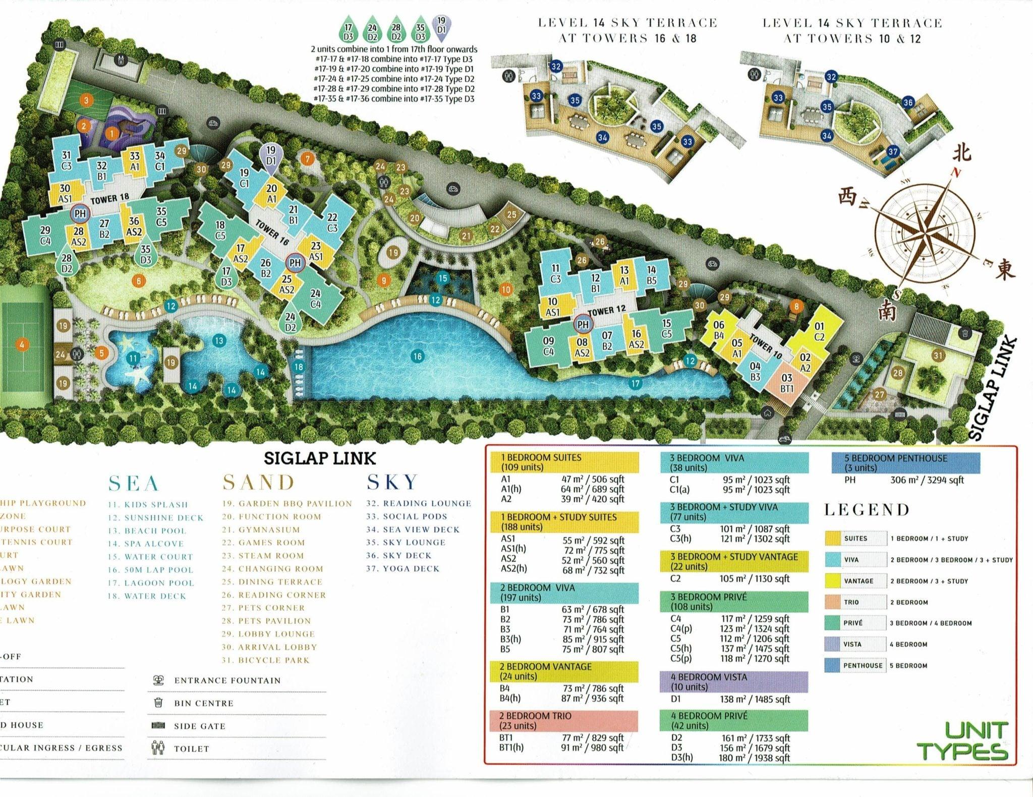 Seaside Residence Siglap Site-Plan
