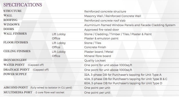 Oxley-Towers-KLCC-Offices-Specification
