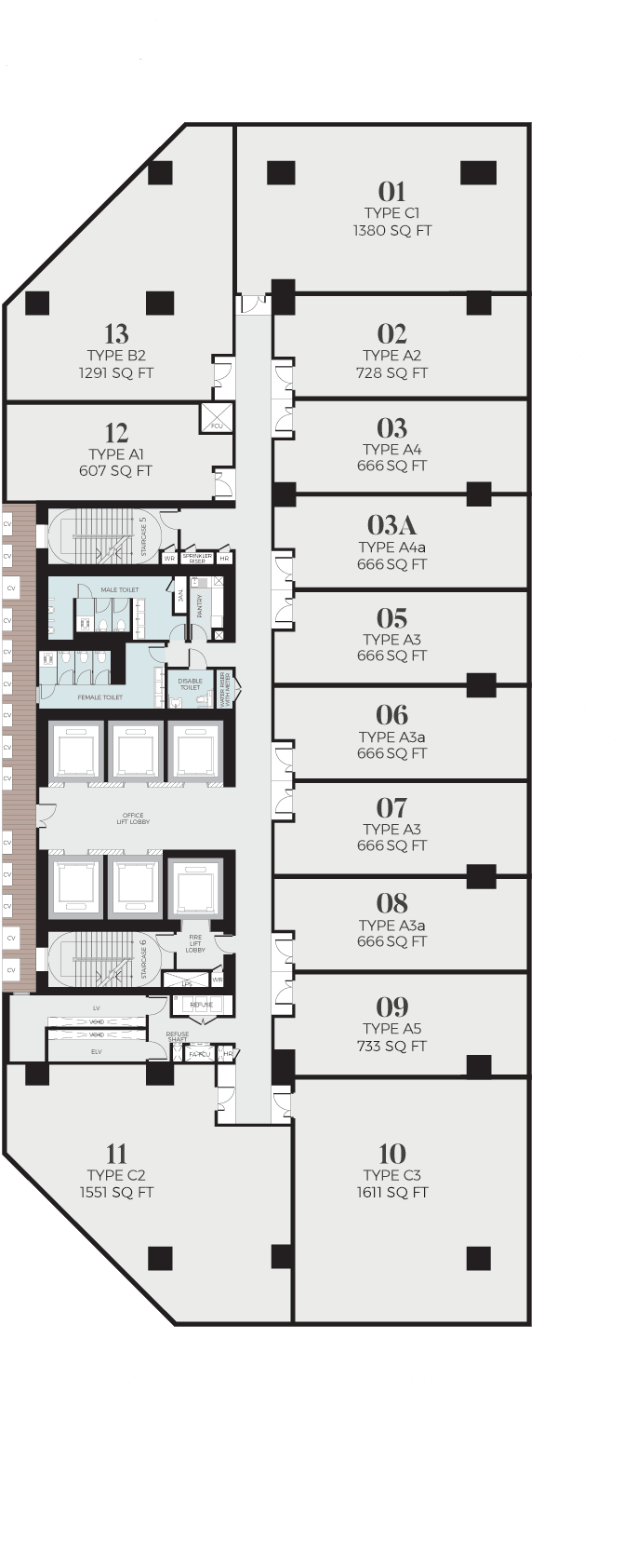 oxleytowers-klcc-officetower-floorplate