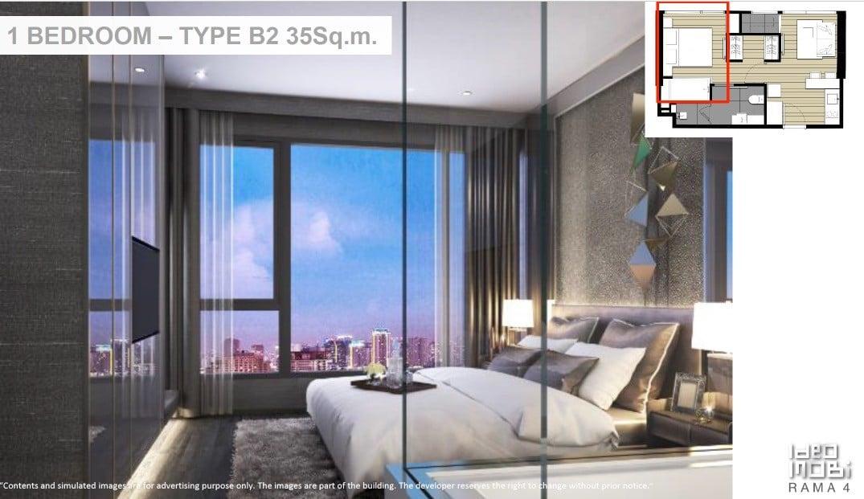 Ideo-Mobi-Rama-4-1BR type B2 floor plan -2