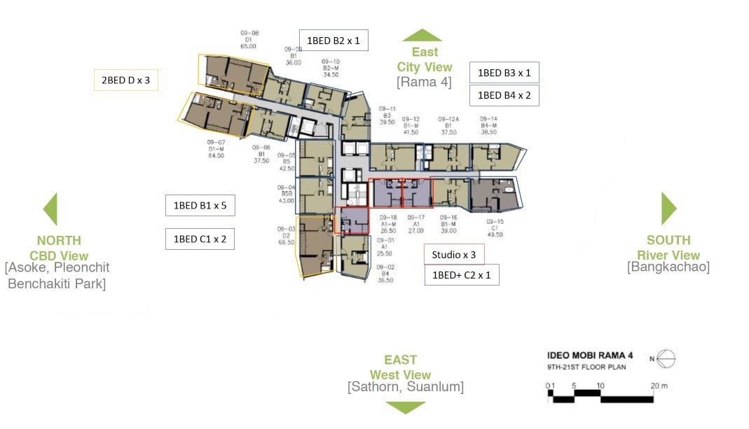 Ideo-Mobi-Rama-4-typical floor plan 9 to 21th