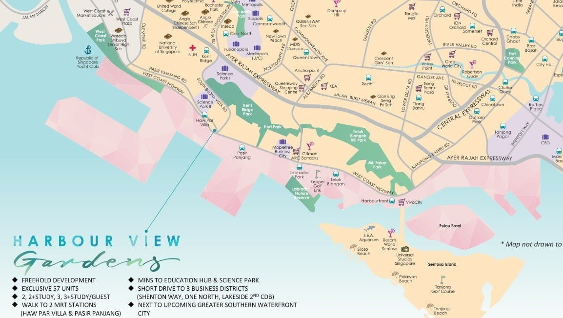 Harbour View Garden-Location Map