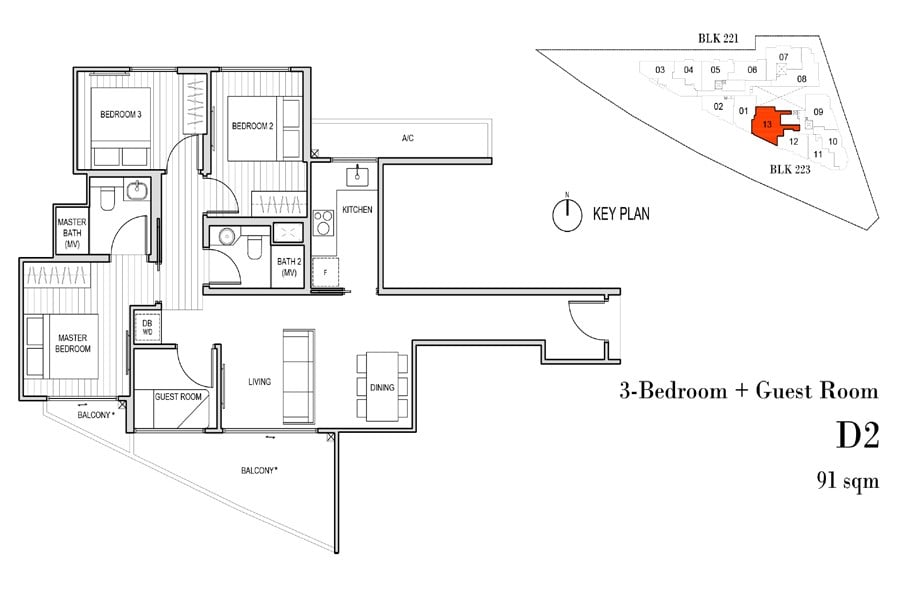 Harbour-View-Gardens-Floorplans-3-Bedroom-with-Guest-Room