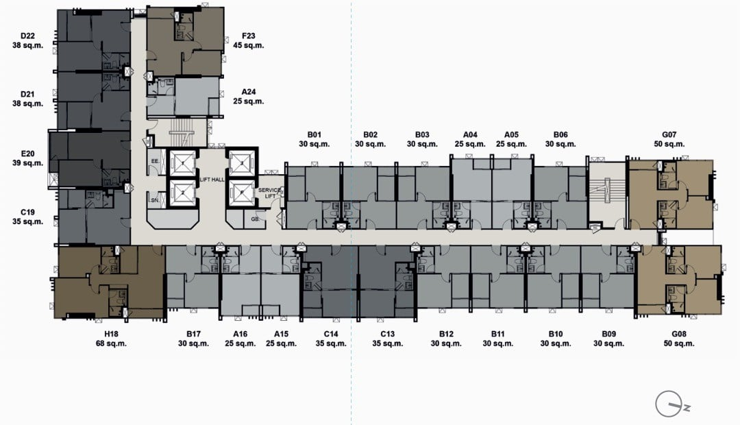 Life-Sukhumvit-62-Bang-Chak-floorplate