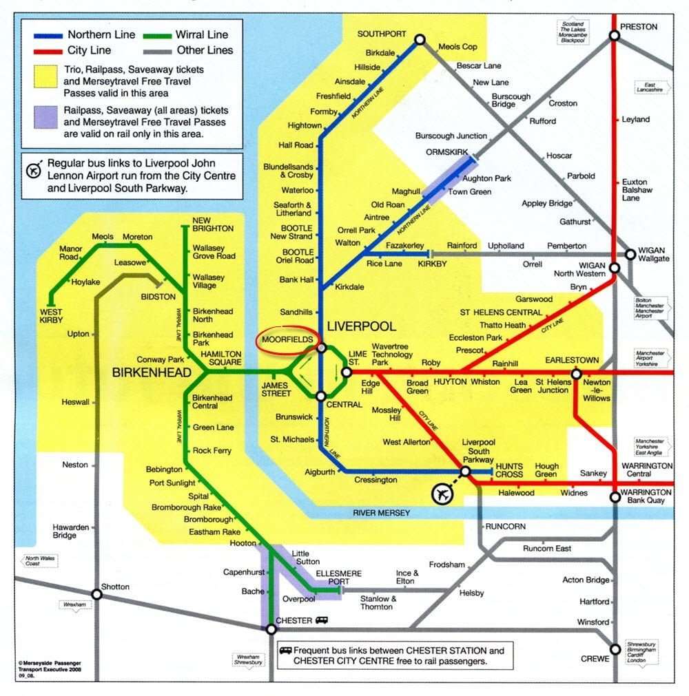 infinity water liverpool uk- transportation map