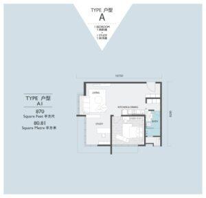 viridea signature soho medini-floor plan-A