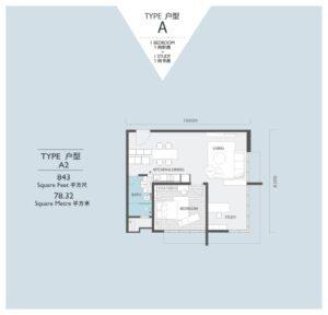 viridea signature soho medini-floor plan-A2
