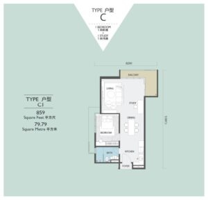 viridea signature soho medini-floor plan-C1